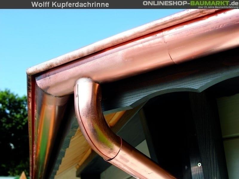Wolff Dachrinne Kupfer Sanna 1 Fallrohr