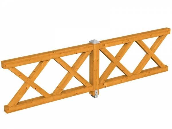 Skan Holz Brüstung für Pavillons 335 cm Andreaskreuz in eiche hell