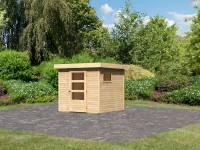 Karibu Woodfeeling Gartenhaus Oburg 2 natur 19 mm