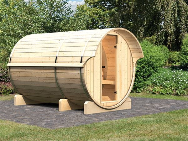 Karibu Fass - Sauna 3 42 mm ohne Ofen - Saunahaus