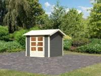 Karibu Woodfeeling Gartenhaus Tastrup 3 in terragrau