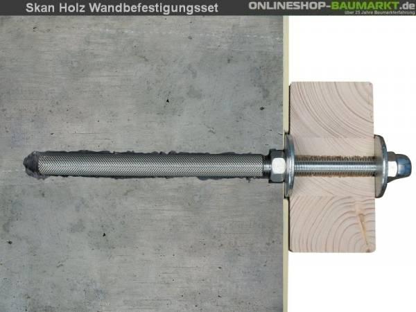 Skan Holz Wandbefestigungsset für Terrassenüberdachungen mit 327 cm Breite