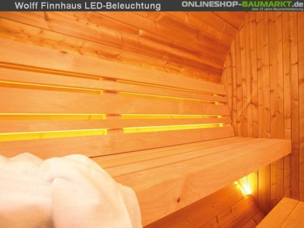 Wolff Finnhaus LED-Beleuchtung für Saunafass de Luxe