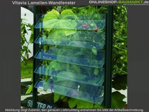 Vitavia Lamellen-Wandfenster mit ESG grün