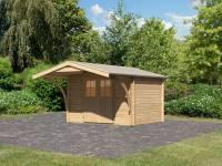 Karibu Gartenhaus Buxtehude 3 mit Vordach 1,80 m