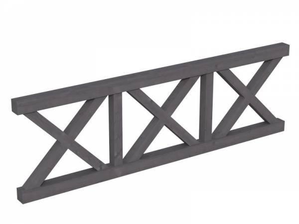 Skan Holz Brüstung für Pavillons 270 cm Andreaskreuz in schiefergrau