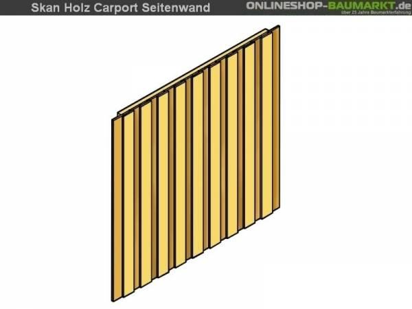 Skan Holz Seitenwand für Carport 141 x 220 cm Deckelschalung