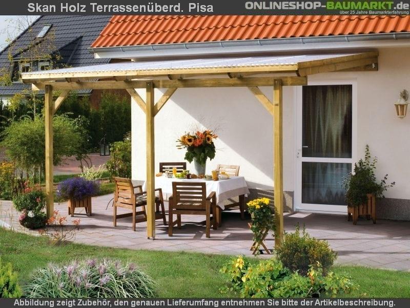 skan holz terrassen berdachung pisa 400 x 350 cm kdi berdachung terrassendach 307708. Black Bedroom Furniture Sets. Home Design Ideas