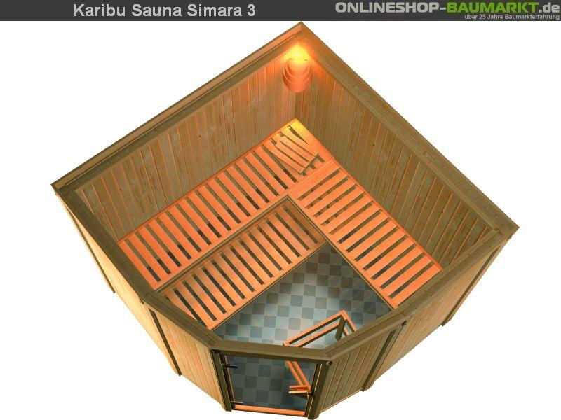 karibu elementsauna simara 3 68 mm 6 eck sauna eckeinstieg. Black Bedroom Furniture Sets. Home Design Ideas