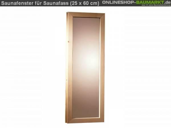 Karibu Fenster für 44 mm Saunafass 25 x 60 cm