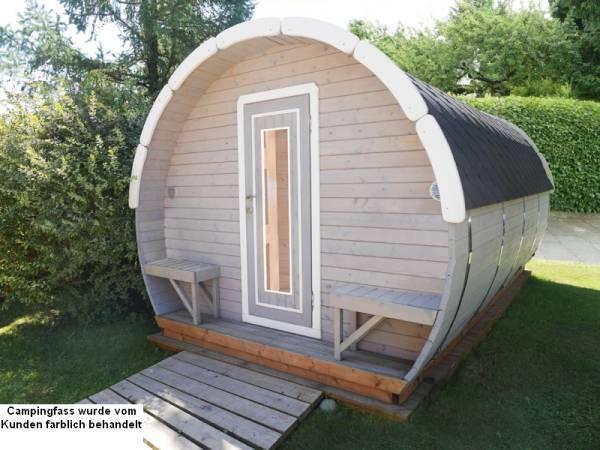 Wolff Finnhaus Campingfass Mega Bausatz mit schwarzen Dachschindeln