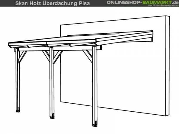 Skan Holz Terrassenüberdachung Pisa 400 x 300 cm