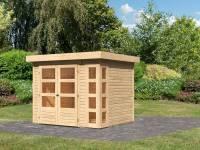 Karibu Woodfeeling Gartenhaus Kerko 3 natur 19 mm