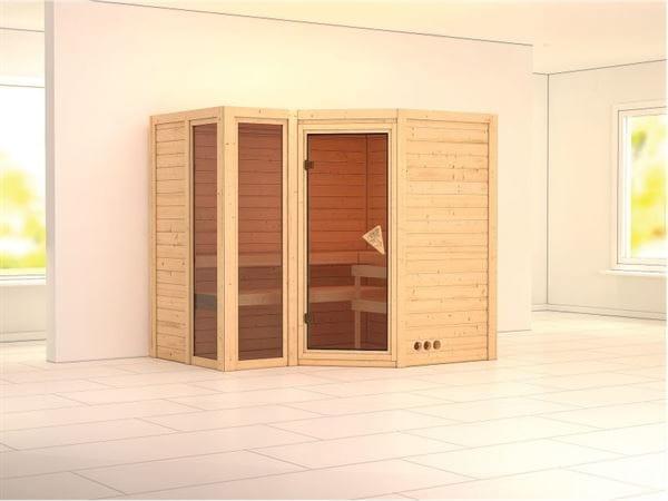 Amara - Karibu Sauna ohne Ofen - ohne Dachkranz -