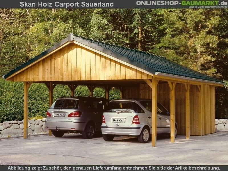 skan holz carport sauerland satteldach 620 x 750 cm dacschalung schalung doppel doppelcarport 322817. Black Bedroom Furniture Sets. Home Design Ideas
