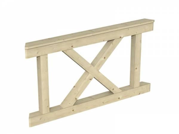 Skan Holz Brüstung für Pavillons 150 cm Andreaskreuz