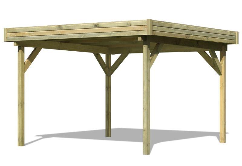 karibu 4 eck pavillon eco flachdachpavillon 2 kompakter 4 eck pavillon eco mit einfach zu. Black Bedroom Furniture Sets. Home Design Ideas
