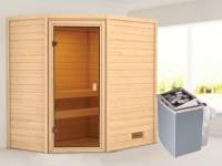 Karibu Woodfeeling Sauna Jella mit 4,5 kW Ofen integr. Strg