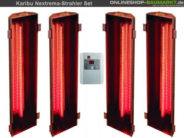 Karibu Vitamy-Strahler Set C Infrarot-Strahler 4 x 750 Watt