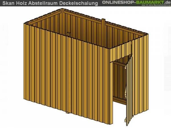 Skan Holz Abstellraum A3 für Carport 378 x 164 cm Deckelschalung