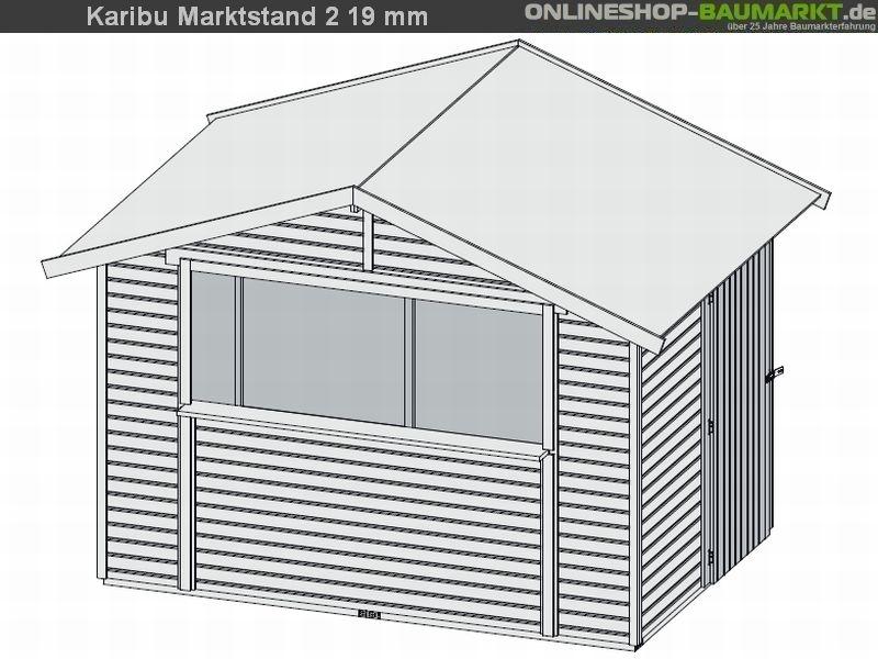karibu verkaufshaus marktstand 19 mm praktisches verkaufshaus f r ihre produkte mit einfach. Black Bedroom Furniture Sets. Home Design Ideas