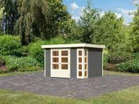 Karibu Woodfeeling Gartenhaus Kerko 5 terragrau 19 mm
