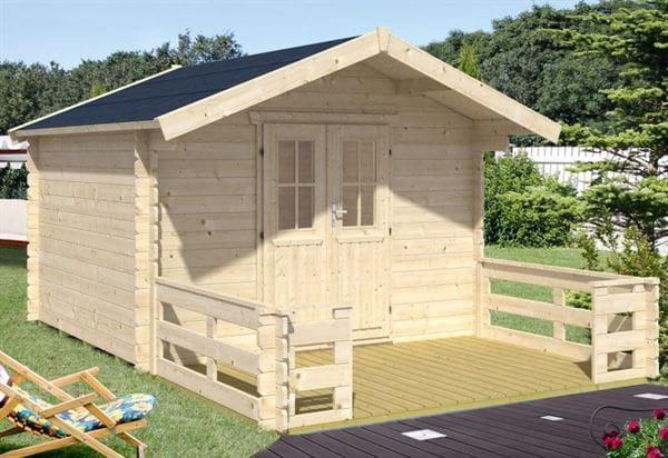 Skan Holz Blockbohlenhaus Faro Größe 1, 300 x 200 cm