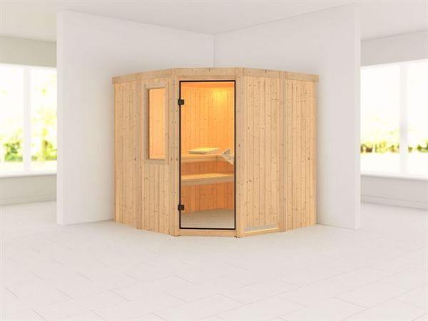 Simara 1 - Karibu Sauna ohne Ofen - mit Fenster -