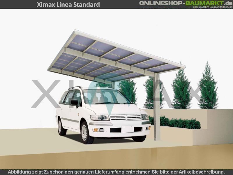 Ximax Carport Linea Typ 60 schwarz 555 x 302 cm
