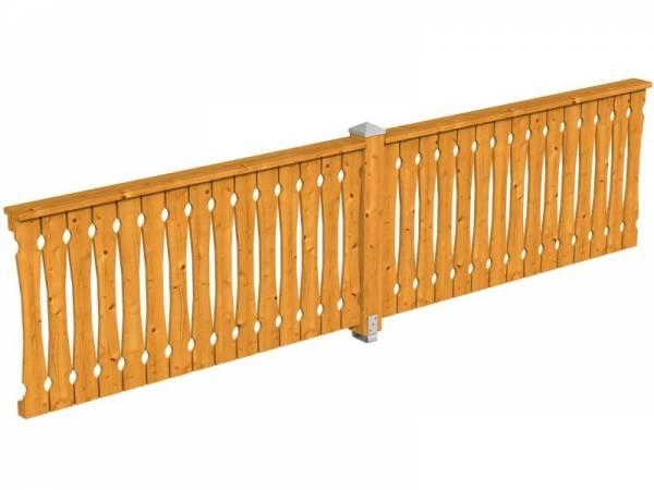 Skan Holz Brüstung für Pavillons 400 cm Balkonschalung in eiche hell