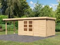 Karibu Woodfeeling Gartenhaus Retola 6 mit Anbaudach 2,80 Meter
