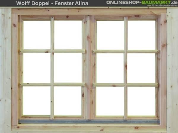 Wolff Finnhaus Doppelfenster Alina 28 natur