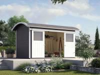 Weka Gartenhaus 228 anthrazit 21 mm