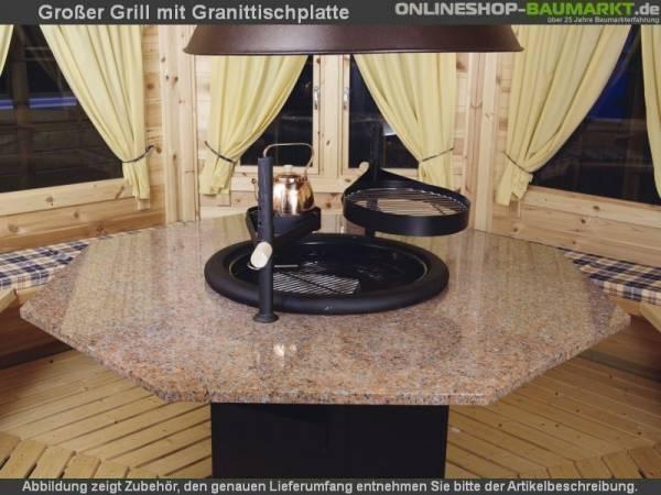 Wolff Finnhaus großer Grill mit Granitplatte
