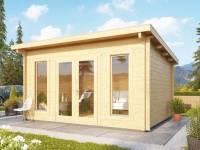 Karibu Gartenhaus Stavanger 1 Blockbohle 70 mm