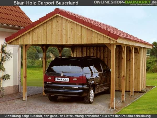 Skan Holz Carport Sauerland 430 x 600 cm
