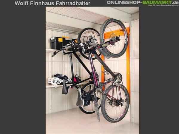 Wolff Finnhaus Fahrradhalter Erweiterung für Metall-Gerätehaus