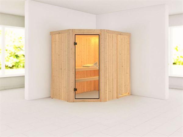 Lavea - Karibu Sauna ohne Ofen - mit Rundbogen -