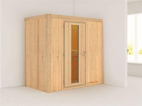 Variado - Karibu Sauna Multifunktionskabine ohne Ofen- mit Energiesparender Saunatür