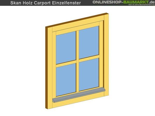 Skan Holz Einzelfenster für Carports, 66 x 82,5 cm