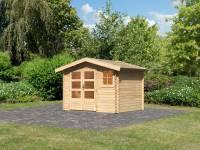 Karibu Woodfeeling Gartenhaus Blockholm 1
