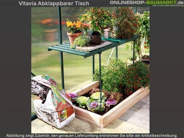 Vitavia Abklappbarer Tisch aus Aluminium grün