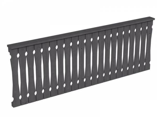 Skan Holz Brüstung in schiefergrau für Pavillon 270 cm Balkonschalung