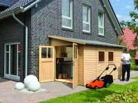 Karibu Gartenhaus Bomlitz 4 natur 19 mm