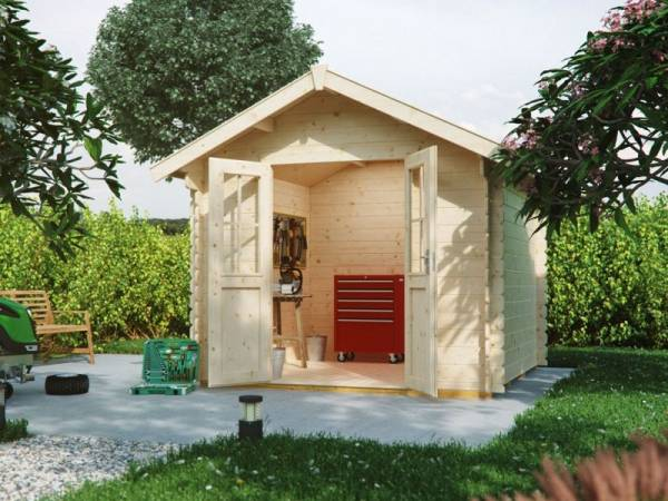 Skan Holz Blockbohlenhaus Palma Größe 3 250 x 300 cm