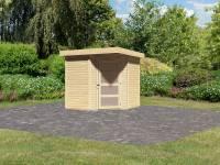 Karibu Woodfeeling Gartenhaus Schwandorf 3 natur 19 mm