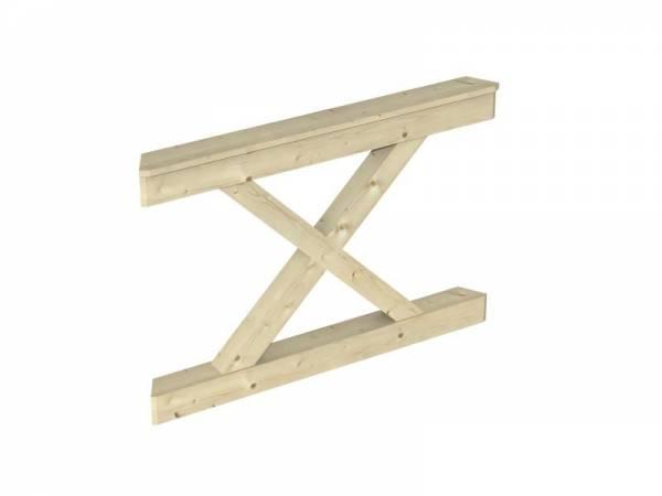 Skan Holz Brüstung für Pavillons 120 cm Andreaskreuz