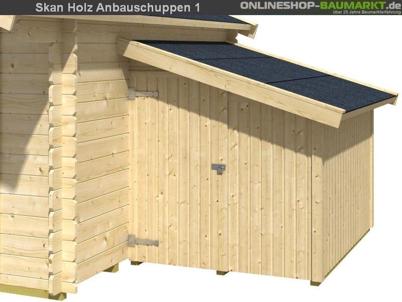 skan holz anbauschuppen 1 ger teschuppen anbauschrank gr e 1 441006 skanholz. Black Bedroom Furniture Sets. Home Design Ideas
