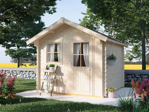 Skan Holz Blockbohlenhaus Porto Größe 1, 250 x 200 cm