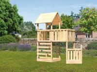 Akubi Spielturm Lotti + Schiffsanbau unten + Anbauplattform + Kletterwand